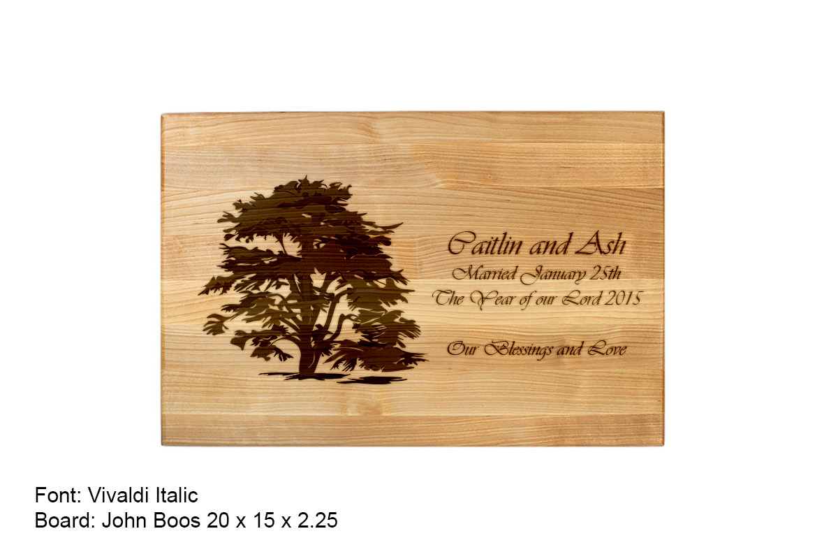 Fancy Custom Cutting Board