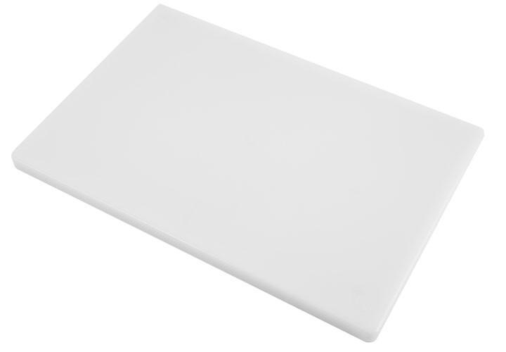 White plastic, NSF certified cutting board