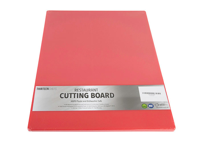HDPE Commercial Red Plastic Cutting Board
