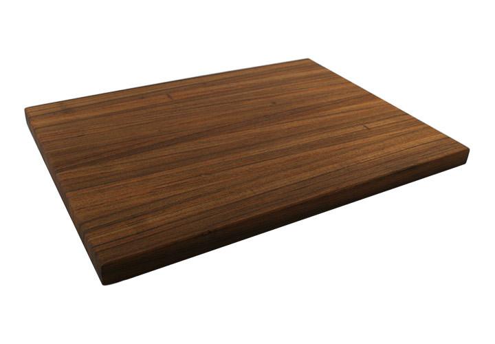 Custom teak pullout cutting board
