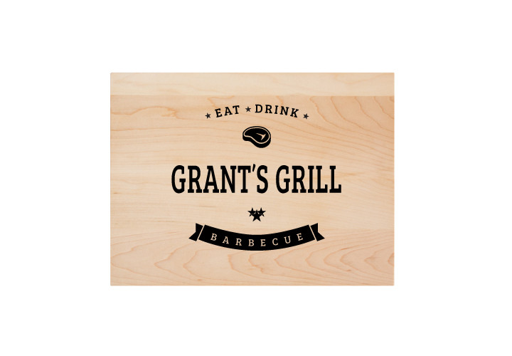 Personalized barbecue theme cutting board