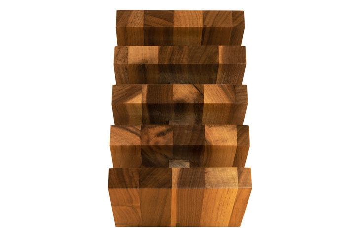 Italian Walnut Knife Block by Artelegno