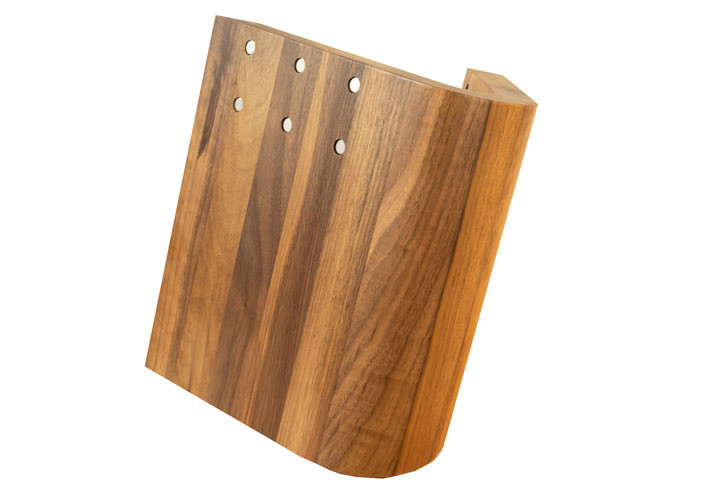 "Artelegno ""Curve"" Walnut Knife Block"
