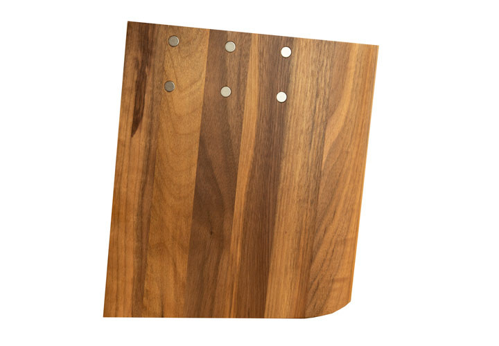 Italian Walnut Knife Block by Aretlegno
