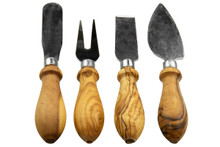 Olive Wood Handled Knife Set of Four