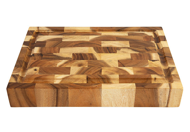 End Grain Butcher Block in Acacia