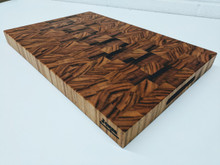 Extra Large Tiger Wood End Grain Butcher Block