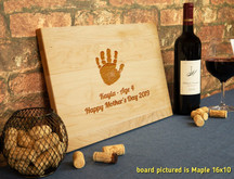 Engraved Kid's Handprint Cutting Board Kit
