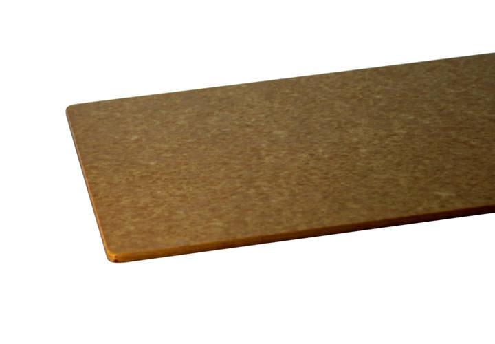 Tan, wood-like composite cutting board