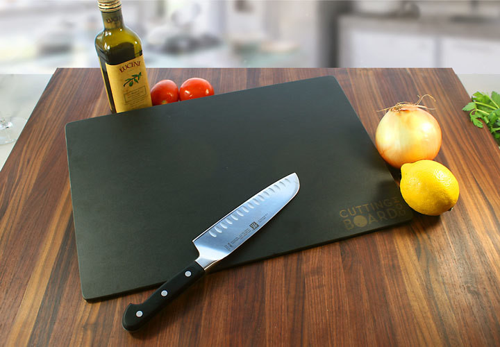Black, wood-like composite cutting board