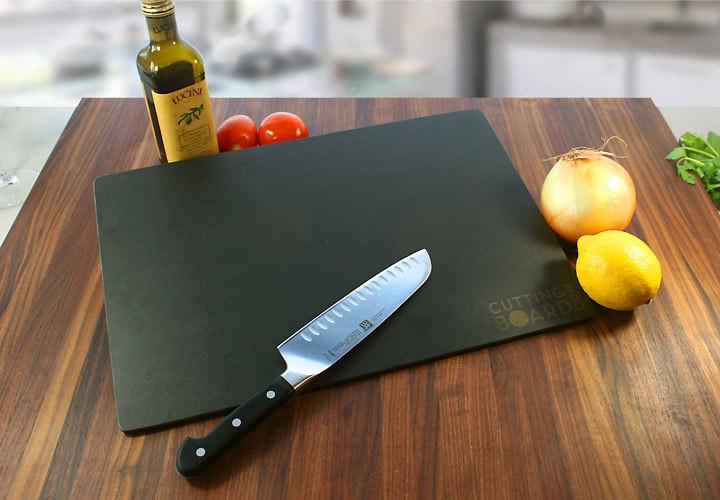 Black, wood-like composite cutting board