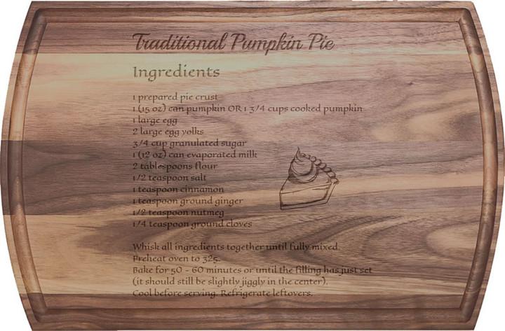 Recipe on Arched Walnut