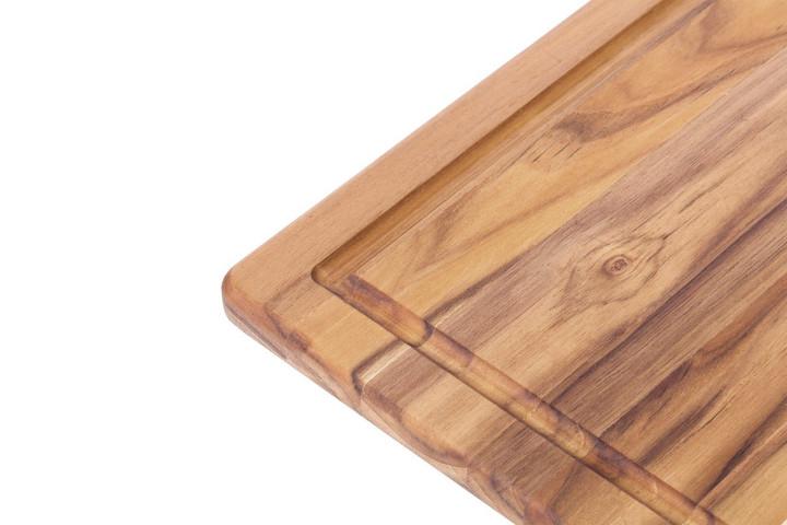 Angle view of teak wood