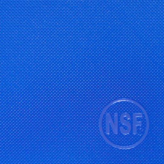 Commercial blue plastic cutting board