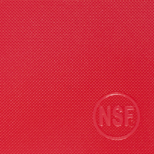 Commercial red plastic cutting board