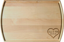 Heart Monogram Engraved Board