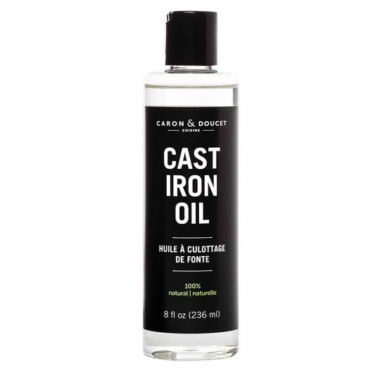 Non-petroleum based cast iron conditioning oil.