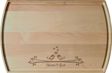 Personalized Lovebirds Engraved Board