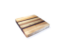 Square hardwood cutting board