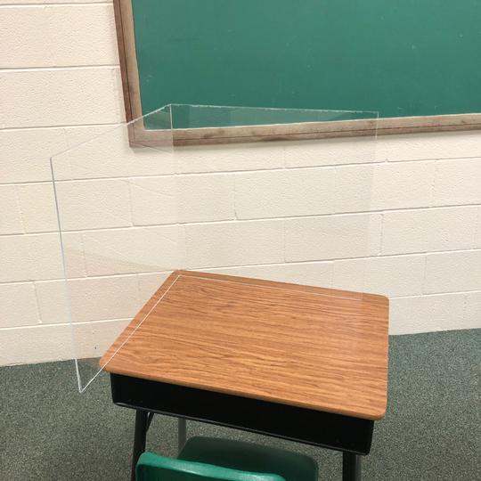 L-Shape Acrylic Schoolroom Sneeze Guard (CBCLSASSG)