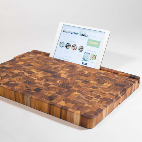 Teakhaus Cutting Board with Built in Tablet stand