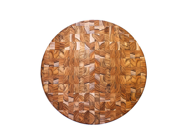 Stunning end grain teak board by Proteak