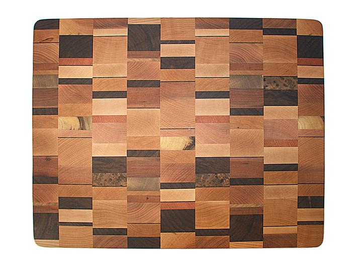 Colorful pattern of beech, birch, walnut