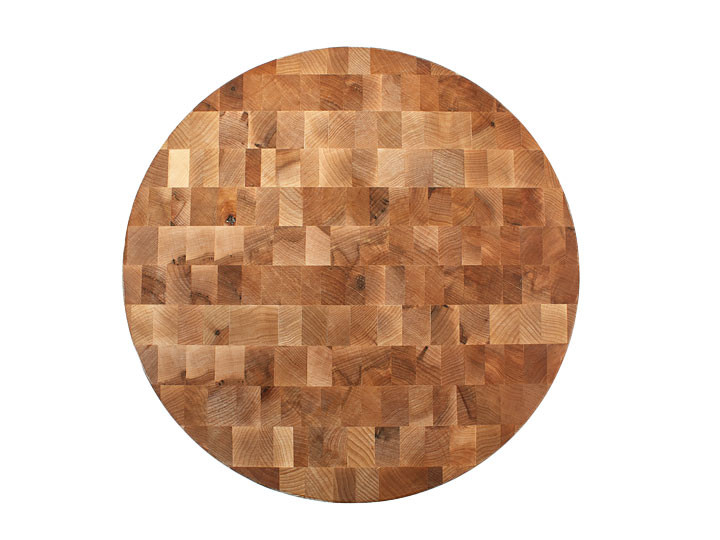 "John Boos Chopping Block 18"" Round Cutting Board Top View"