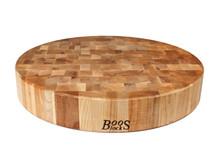 "John Boos Chopping Block 18"" Round Cutting Board Overview"