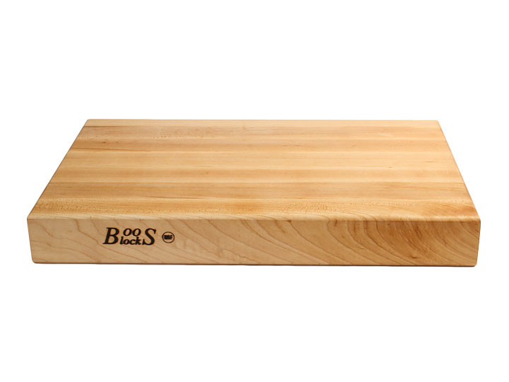 John Boos Reversible With Grips Maple 18x12x2.25 Cutting Board Side View