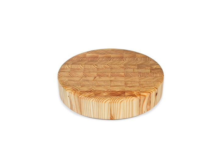 "Larch Wood 10"" Round Cheese Cutting Board"