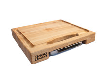 "John Boos Prep Master Chopping Block With Tray 15"" x 14"" x 2.25"" Overview"