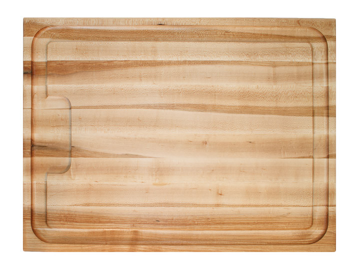 "John Boos Au Jus Maple Board Cutting Board 24"" x 18"" x 1.5"" Top View"