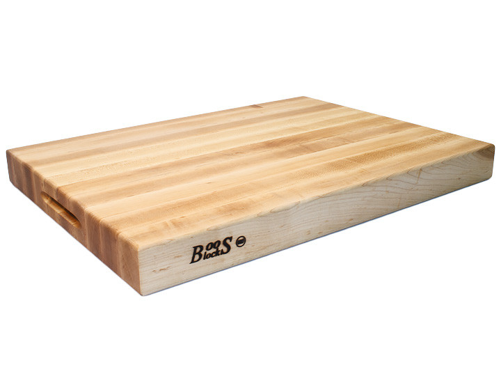 John Boos Reversible Cutting Board With Grips Maple 24x18x2.25 (RA03)