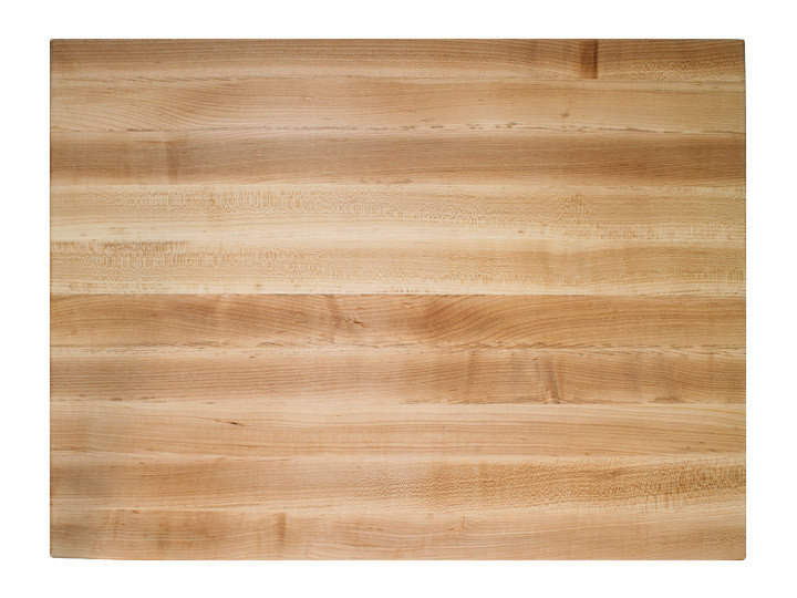 John Boos Reversible Cutting Board With Grips Maple 24x18x2.25 (RA03) Top View