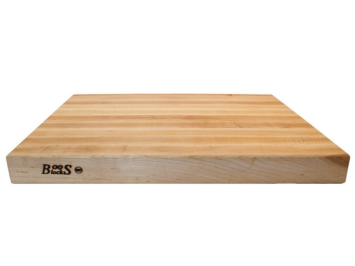 John Boos Reversible Cutting Board With Grips Maple 24x18x2.25 (RA03) Side View