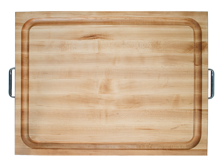 John Boos Reversible Cutting Board With Handles & Juice Groove 24x18x2.25 (RAFR2418) Top View