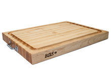 John Boos Reversible Cutting Board With Handles & Juice Groove 24x18x2.25 (RAFR2418) Overview