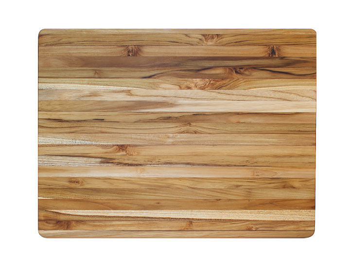 "Proteak Edge Grain Rectangle Cutting Board With Handles 20"" x 15"" x 1.5"" Top View"