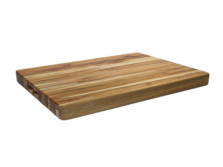"Proteak Edge Grain Rectangle Cutting Board With Handles 20"" x 15"" x 1.5"" Overview"