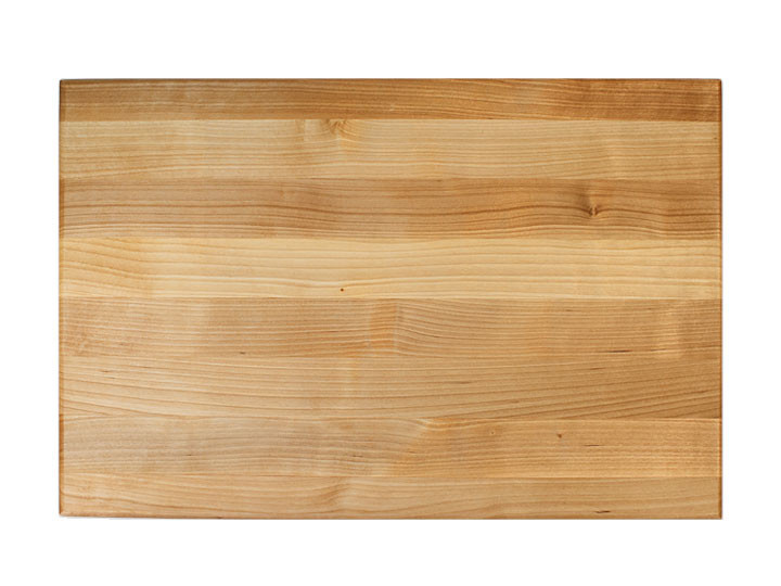 "John Boos Reversible Cutting Board With Grips Maple 18"" x 12"" x 1.5"" Top View"