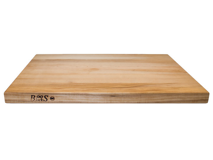 """John Boos Reversible Cutting Board With Grips Maple 24"""" x 18"""" x 1.5"""" Side View"""