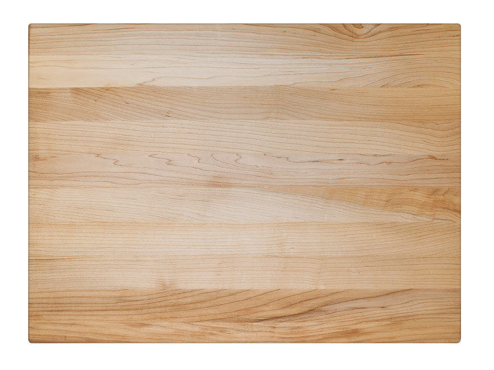 "John Boos Reversible Cutting Board With Grips Maple 24"" x 18"" x 1.5"" Top View"