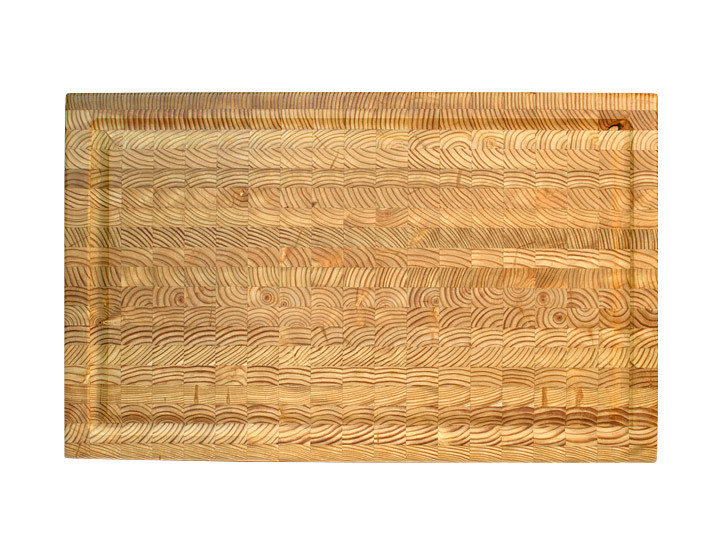 "Larch Wood Carvers Cutting Board 24"" x 15"" x 2"" Top View"