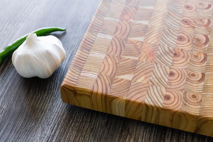 "Larch Wood Medium Classic Cutting Board 17.75"" x 11"" x 1.6"""