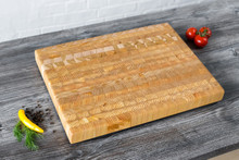 "Larch Wood Medium Classic Cutting Board 17.75"" x 11"" x 1.6"""