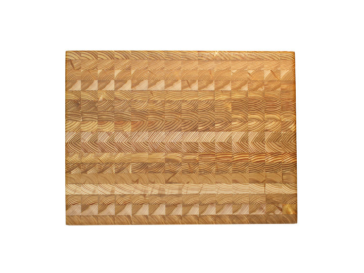 "Larch Wood Medium Classic Cutting Board 17.75"" x 11"" x 1.6"" Top View"