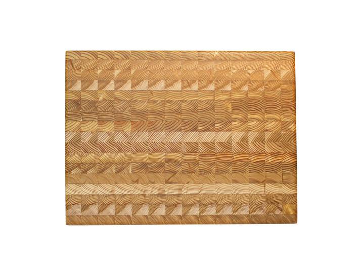 "Larch Wood Medium Classic Cutting Board 17.75"" x 11"" x 1.6"" Top View"