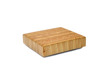 "Larch Wood Square Cutting Board 14"" x 14"" x 2"" Overview"
