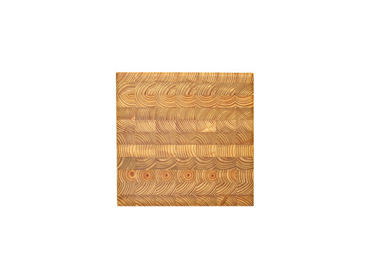 """Larch Wood Square Cutting Board 14"""" x 14"""" x 2"""" Top View"""